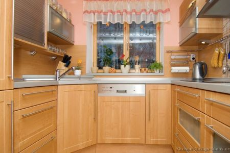 kitchen cabinets modern light wood 010a s15588664 corner sink