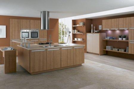 kitchen cabinets modern light wood 024 a119a cream steel hood island wall oven