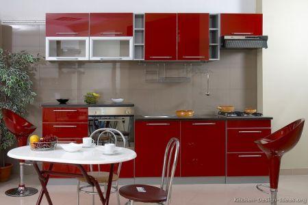 kitchen cabinets modern red 014 s3467011
