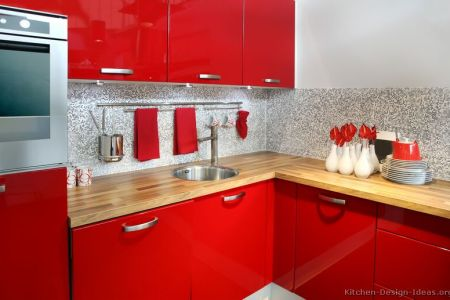 kitchen cabinets modern red 021 s19602868 small sink