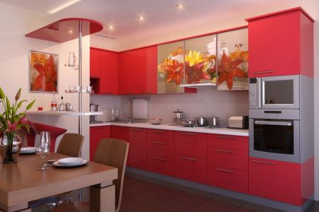 kitchen cabinets modern red 028 s38818513x2 photo print small