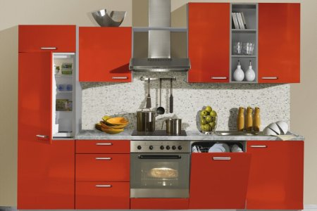 kitchen cabinets modern two tone 217 a005a red gray built in refrigerator