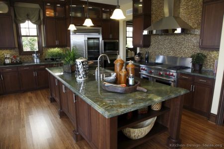 kitchen cabinets traditional dark wood cherry color 043 s31343716 island luxury