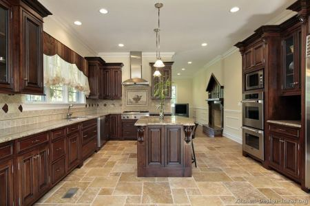 kitchen cabinets traditional dark wood cherry color 050 s32038786x2 luxury island corbels
