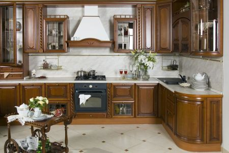 kitchen cabinets traditional dark wood golden brown 001a s3946174 island cart wood hood