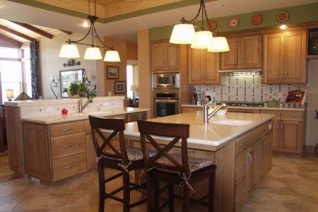 kitchen cabinets traditional light wood 011a s13982344 quartersawn oak craftsman island