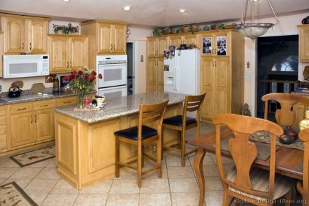 kitchen cabinets traditional light wood 053 s2738332 island seating white appliances