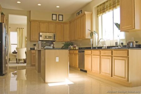 kitchen cabinets traditional light wood 058 s4837729 island