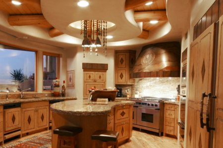 kitchen cabinets traditional light wood 118 b648729c chiseled granite santa fe range hood