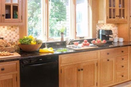 kitchen cabinets traditional light wood 128 cp031b shaker sink black dishwasher