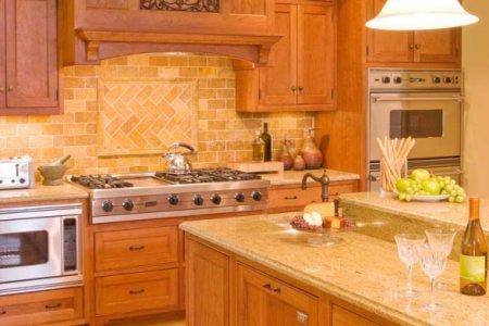 kitchen cabinets traditional light wood 134 cp052d wood hood island sink backsplash tile