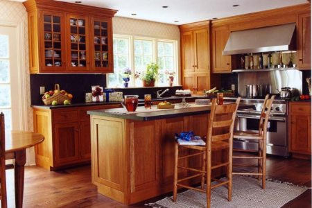 kitchen cabinets traditional light wood 140 cp512a shaker cherry island seating wood floor