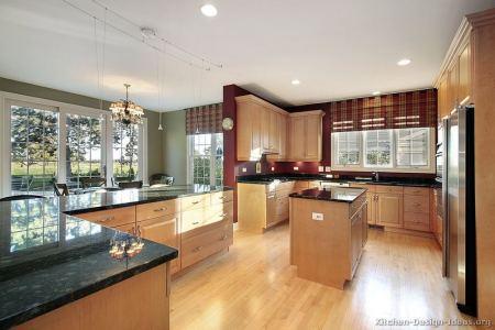 kitchen cabinets traditional light wood 174 s41905789x2 island floors green burgundy walls