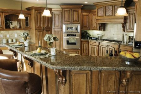 kitchen cabinets traditional medium wood brown 053 b2675022 rustic wood hood luxury