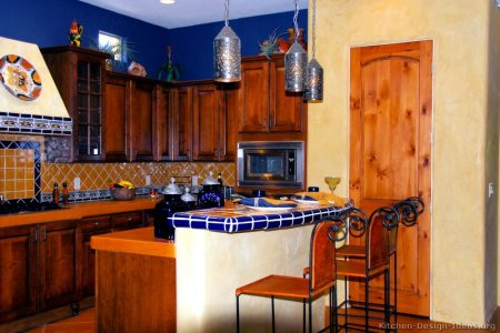 kitchen cabinets traditional medium wood cherry color 076 b2699909 adobe mexican kitchen