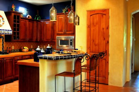 kitchen cabinets traditional medium wood cherry color 076a b2699910 adobe mexican kitchen