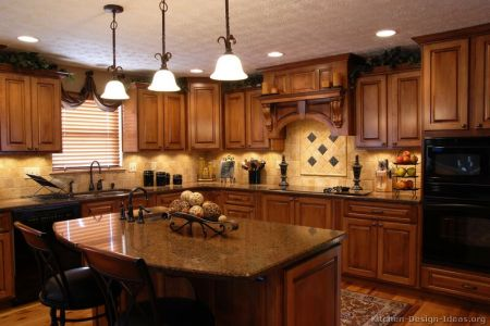 kitchen cabinets traditional medium wood golden brown 004a s8919676 wood hood island luxury