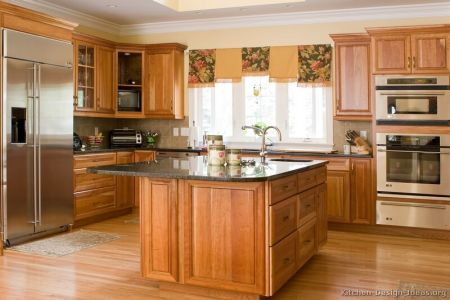 kitchen cabinets traditional medium wood golden brown 010a s4122517 island