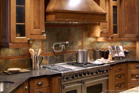 kitchen cabinets traditional medium wood golden brown 041 s4706659c slate tile backsplash