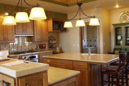 kitchen cabinets traditional medium wood golden brown 052 s13796887 quartersawn oak island