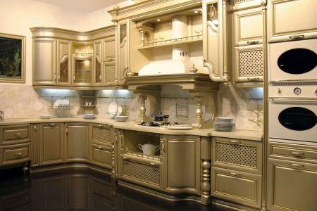 kitchen cabinets traditional metallic gold 001 s18881845 wood hood luxury