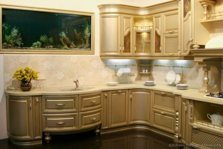 kitchen cabinets traditional metallic gold 001 s34253164x2 luxury curved sink wall aquarium