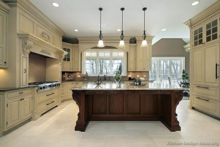 kitchen cabinets traditional two tone 009a s27743500 antique white wood hood island luxury