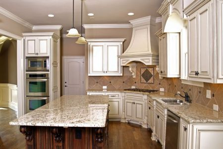 kitchen cabinets traditional two tone 020a s11730715 antique white wood hood island luxury