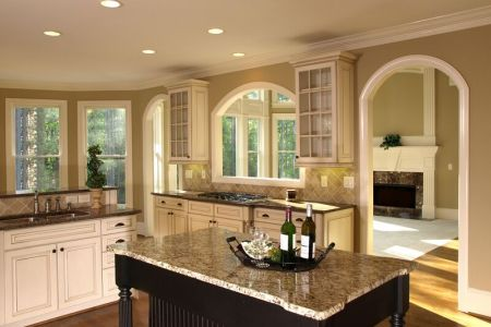 kitchen cabinets traditional two tone 024a s13368874 antique white dark wood two islands
