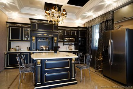 kitchen cabinets traditional two tone 026a s14146642 black gold highlight island luxury