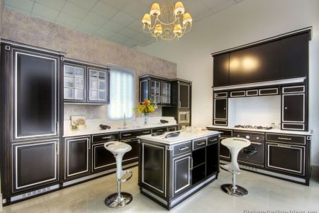 kitchen cabinets traditional two tone 039 s11638171 black white accent highlight island