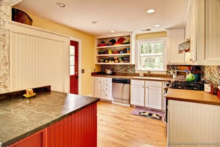 kitchen cabinets traditional two tone 101 s29906938 white red