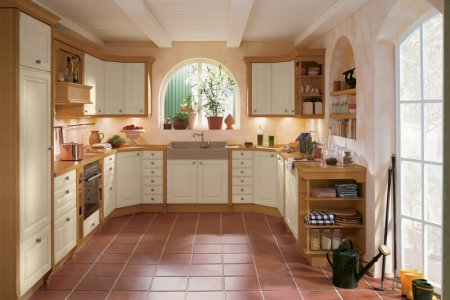 kitchen cabinets traditional two tone 121 a172a light wood white country farm sink arches