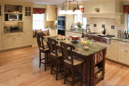 kitchen cabinets traditional two tone 128 cp010a antique white dark wood hood island