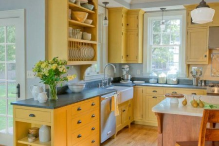 kitchen cabinets traditional two tone 148 cp057b yellow medium wood farm sink wood floor
