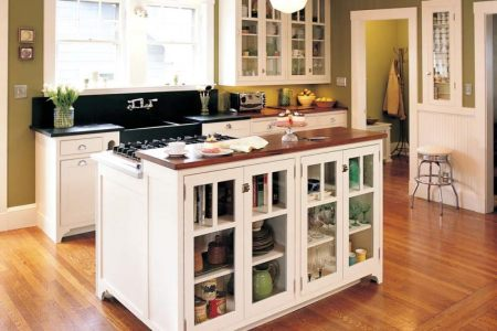 kitchen cabinets traditional white 130 cp518a island vintage farm sink green walls wood top