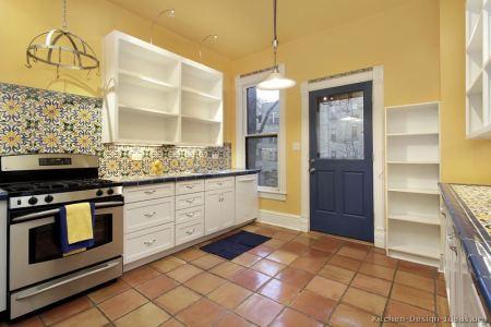 kitchen cabinets traditional white 167 s49407046x2 pattern backsplash mexican pavers tile