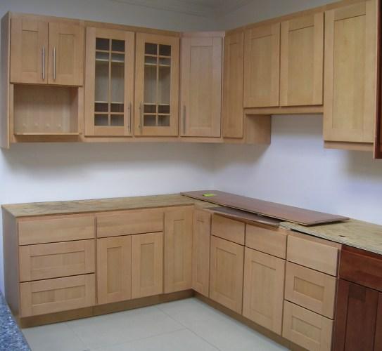 allcabinets cabinet kitchen Natural Maple Wholesale Kitchen Cabinets Maple Shaker