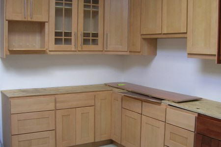 maple shaker kitchen cabinet