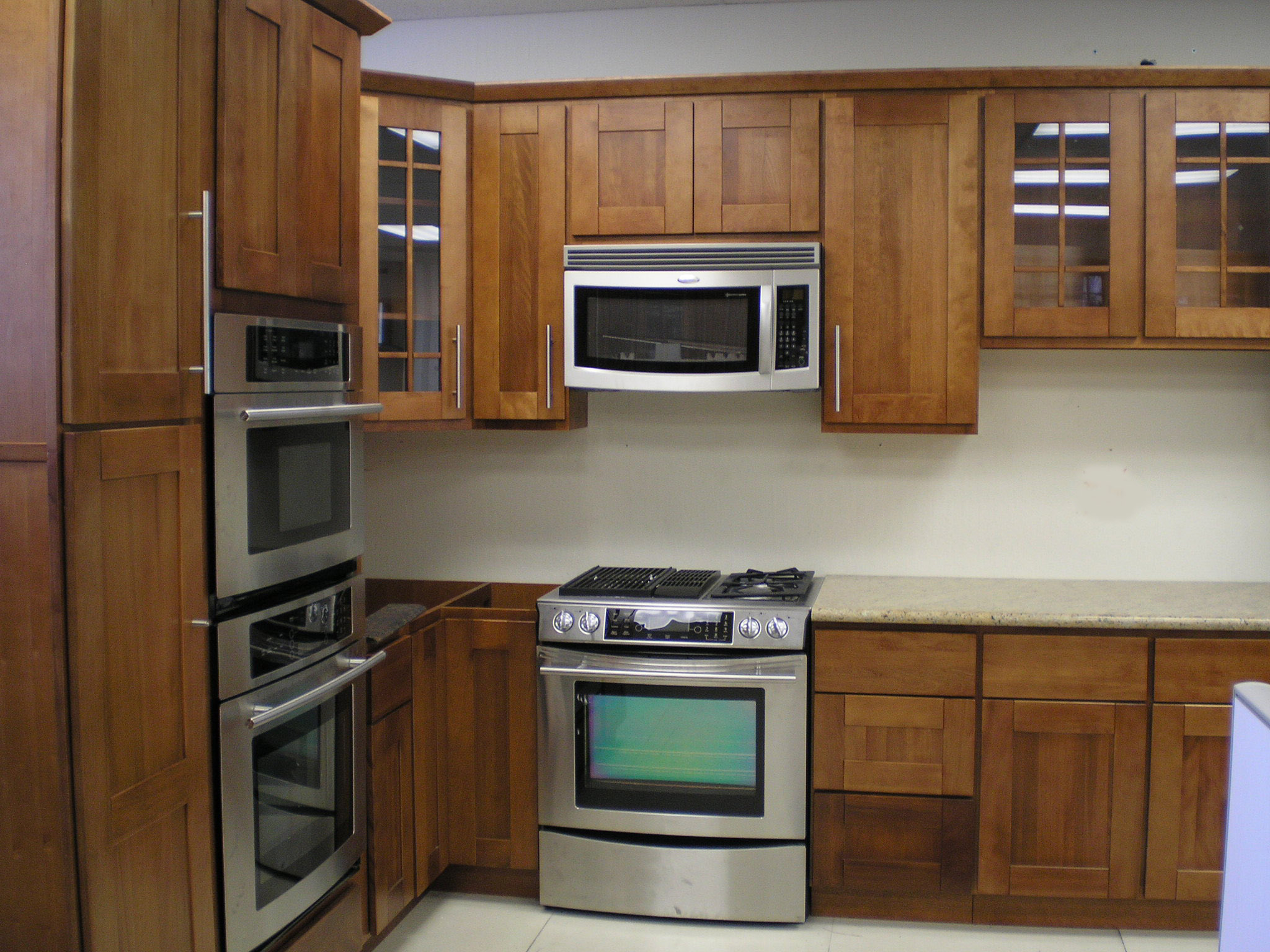 shaker kitchen cabinets kitchen cabinets cheap Discount All Wood Cherry Kitchen Cabinets
