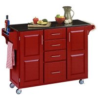 48 in Kitchen Cart in Cherry Finish