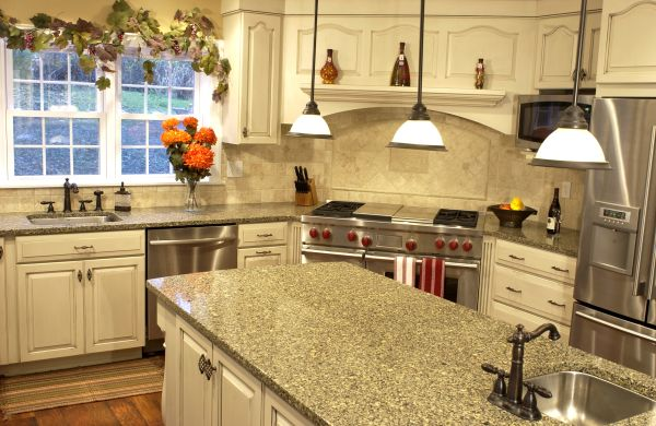 Ceramic kitchen countertop
