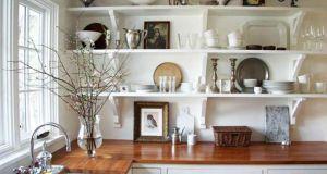 vintage inspired kitchen shelves (1)