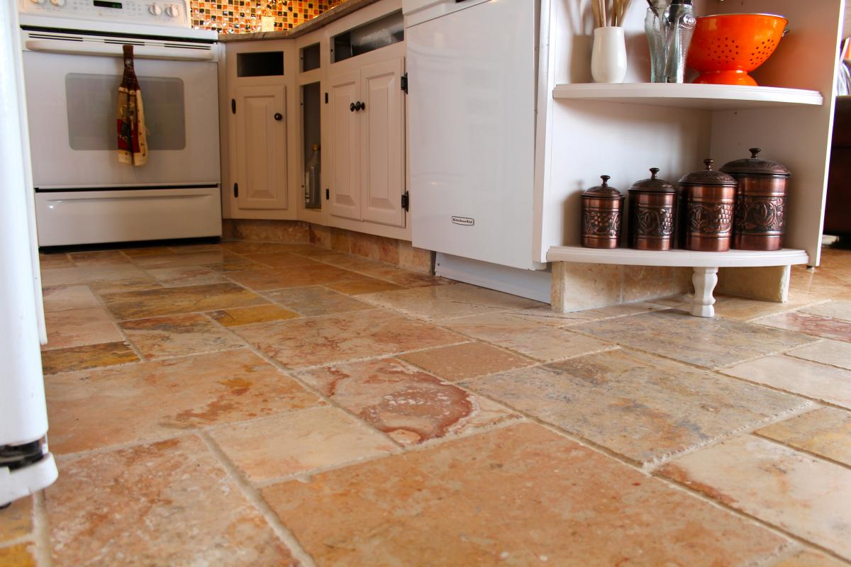 look down fabulous floor ideas cork kitchen flooring