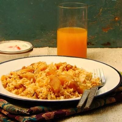 Aloo Dum Biryani/Potato Pilaf
