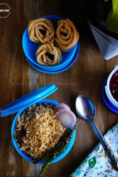 Instant Tomato Rice – Quick Office Lunch Box Recipe