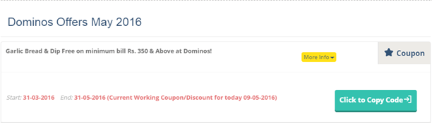 dominons coupon