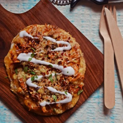 Skillet Chicken Mayo Pita Pizza