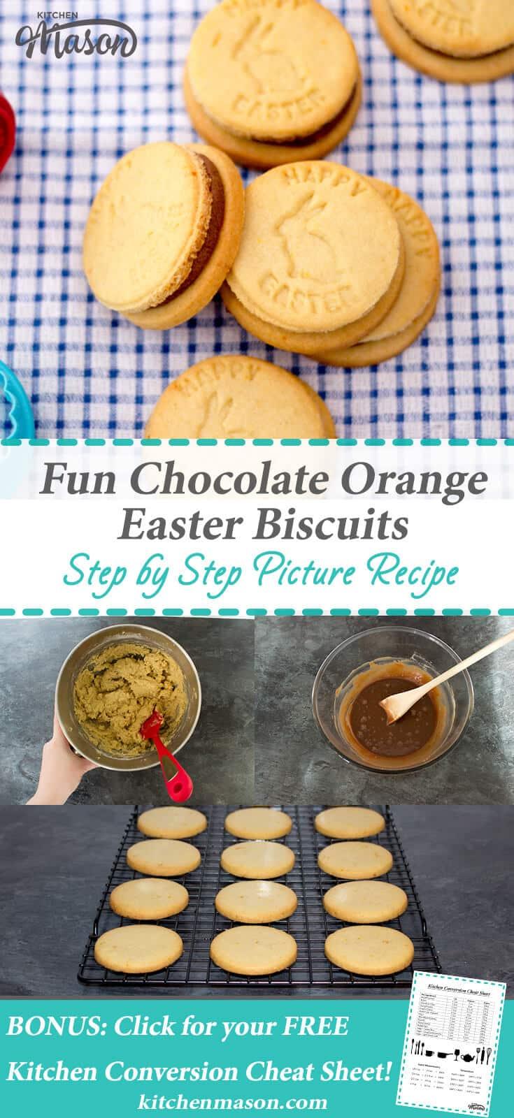 Fun Chocolate Orange Easter Biscuits   Cookies   Ganache