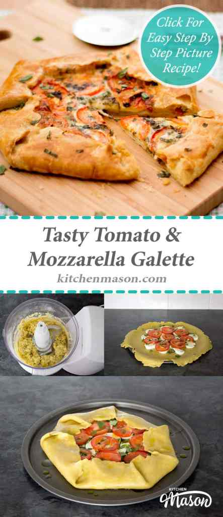 Galette | Tomato & Mozzarella | Tasty | Pastry | Pizza | Easy